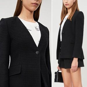 NWT Maje Varlo Tweed Cotton Blazer